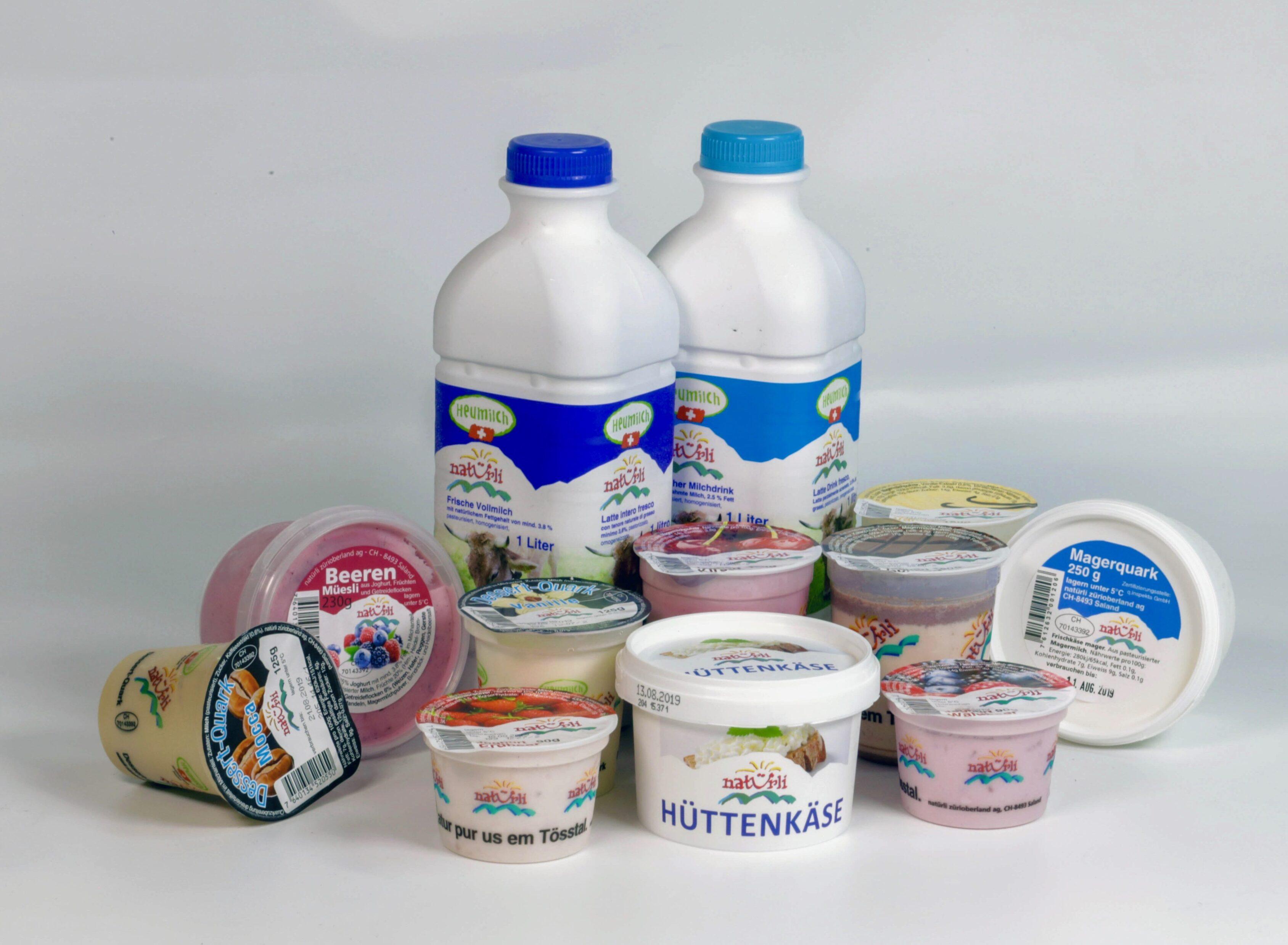 natürli Assortiment de produits laitiers